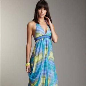 BCBG MAXAZRIA Blue Gown Wedding Party Dress 4 NEW